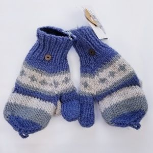 Handmade 100% Wool Convertible Thumb Gloves